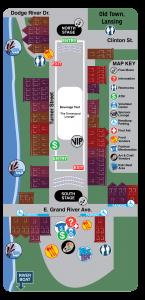 JazzFest Map.