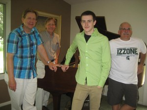 Left to right - Ron Newman, Ed Fedewa, Noah Frankforter, Ian Levine. Photo provided by Jazz Alliance of Mid-Michigan.