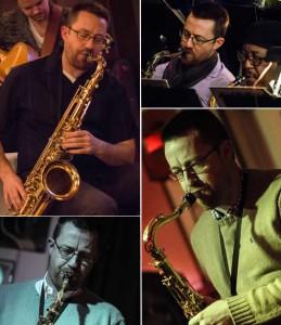Trent Harris with saxophone